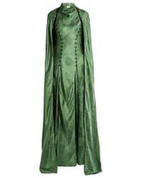 Rosie Assoulin - El Capo Detachable-cape Satin Gown - Lyst