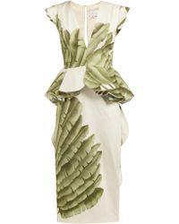 Johanna Ortiz - Natural Listic Palm Leaf Print Cotton Dress - Lyst