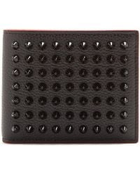 Christian Louboutin | Coolcoin Stud-embellished Leather Wallet | Lyst