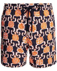 Vilebrequin - Moorea Primitive Turtles-print Swim Shorts - Lyst