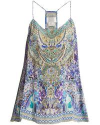 Camilla - The Blue Market-print Silk Cami Top - Lyst