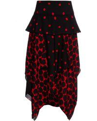 Proenza Schouler | Polka-dot Print Handkerchief-hem Skirt | Lyst