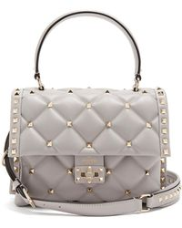 Valentino - Candystud Quilted-leather Shoulder Bag - Lyst