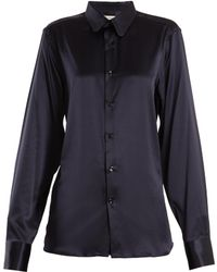 CONNOLLY - Point-collar Silk-blend Satin Shirt - Lyst