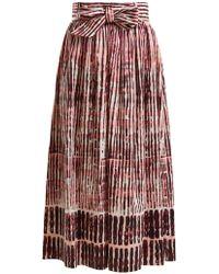 Goat - Faro Batik Striped Stretch-cotton Skirt - Lyst