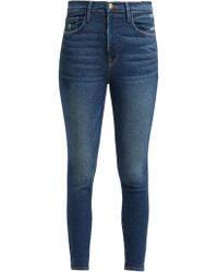 FRAME - Ali High Rise Skinny Cigarette Jeans - Lyst