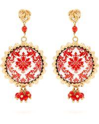 Rosantica By Michela Panero - Ciucciue Ceramic Tile Drop Earrings - Lyst