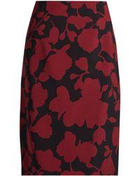 Oscar de la Renta - Floral-brocade Pencil Skirt - Lyst