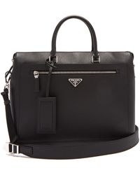 Prada - Saffiano Leather Briefcase - Lyst