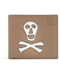 Loewe - Skull-patch Leather Bi-fold Wallet - Lyst