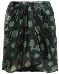 Isabel Marant - Paris Silk-blend Mini Skirt - Lyst