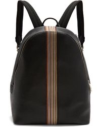 Paul Smith - Leather Signature Stripe Trim Backpack - Lyst