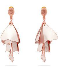 Oscar de la Renta - Large Impatiens Clip-on Earrings - Lyst