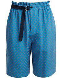 JOSEPH - Louis Polka-dot Print Silk-chiffon Shorts - Lyst