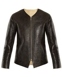 Étoile Isabel Marant - Izy Reversible Leather And Shearling Jacket - Lyst