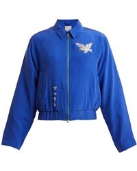 Maharishi - Eagle Embroidered Silk Jacket - Lyst