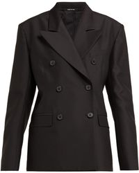Maison Margiela - Double Breasted Wool And Silk Blazer - Lyst
