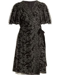 Carine Gilson - Floral Lace-embroidered Silk Wrap Dress - Lyst