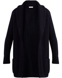 Ryan Roche - Ribbed Cashmere And Silk Blend Cardigan - Lyst