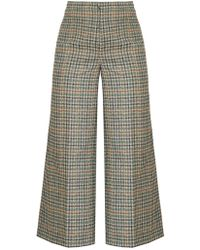 Isabel Marant - Trevi High Rise Wide Leg Cropped Trousers - Lyst