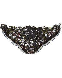 c2cf77f9b69 Ganni Caradonna Floral-print Swim Top in Black - Lyst