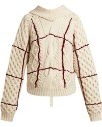 Toga - Open Back Cable Knit Jumper - Lyst