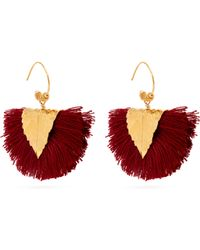 Elise Tsikis - Agia Tassel Embellished Earrings - Lyst