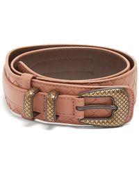 Bottega Veneta | Layered Intrecciato Leather Belt | Lyst