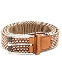 Berluti - Scenario Leather-trimmed Braided Belt - Lyst