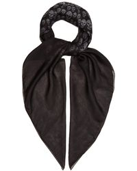 Alexander McQueen - Skull Printed Silk Scarf - Lyst