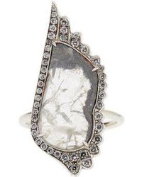 Susan Foster - - Diamond Slice & White Gold Ring - Womens - White Gold - Lyst
