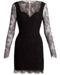 Emilio de la Morena - Grace Lace And Silk-blend Mini Dress - Lyst