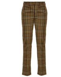 Toga - Mid-rise Checked Wool Trousers - Lyst