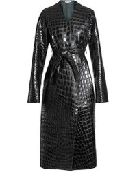 Attico - Marla Embossed Leather Trench - Lyst