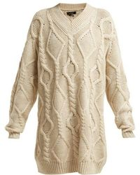 Isabel Marant - Bev Cable Knit Wool Jumper - Lyst