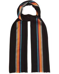 Paul Smith - Artist Stripe Wool Scarf - Lyst