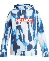 Helmut Lang - Bleacher Printed Cotton Hooded Sweatshirt - Lyst