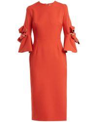 ROKSANDA - Lavete Bow-detail Crepe Dress - Lyst