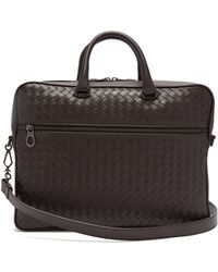 Bottega Veneta - Intrecciato Leather Briefcase - Lyst