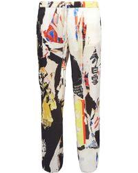 Marques'Almeida - Wide-leg Printed Satin Trousers - Lyst