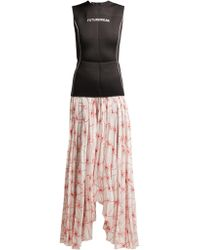 Marine Serre - Spin Flower Printed Skirt Wetsuit Dress - Lyst