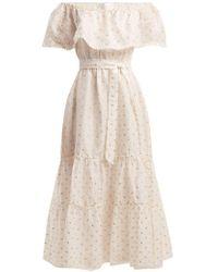 Athena Procopiou - Off-the-shoulder Tiered Fil-coupé Dress - Lyst
