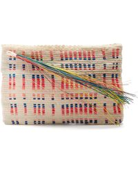 Sophie Anderson | Lia Woven-toquilla Clutch | Lyst