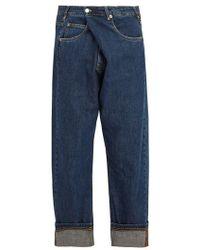JW Anderson - Asymmetric Straight-leg Jeans - Lyst