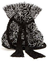 Rebecca de Ravenel - - Drawstring Pouch Shoulder Bag - Womens - Black White - Lyst