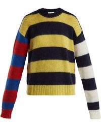 Aries - Striped Knitted Jumper - Lyst