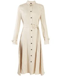 Altuzarra - Fiona Waist-belt Pinstriped Shirtdress - Lyst