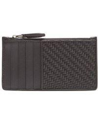 Lyst shop mens ermenegildo zegna wallets from 150 ermenegildo zegna woven and smooth leather cardholder lyst reheart Images