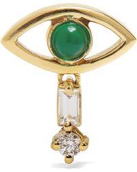 Ileana Makri - Diamond, Emerald & Yellow-gold Earring - Lyst