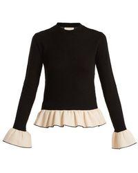 Khaite - Claudia Bell-cuff Knitted Wool-blend Jumper - Lyst